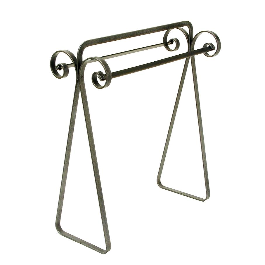 Scroll Quilt Rack Hammered Steel - Pot Racks Plus