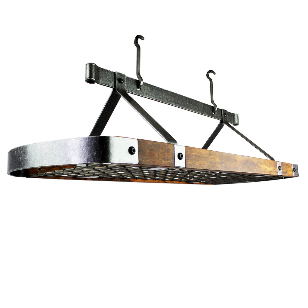 "Signature 45"" Oval Ceiling Rack With Tigerwood - Pot Racks Plus"