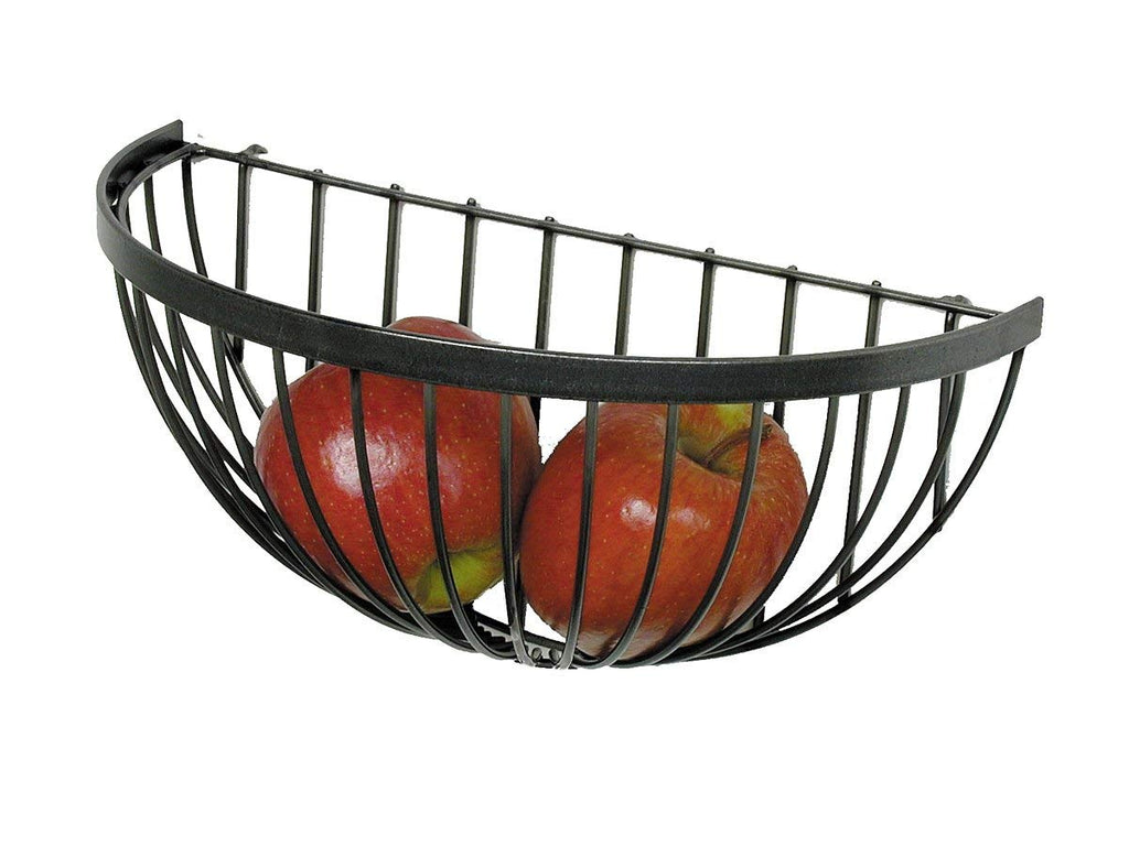 Wire Fruit Basket Hammered Steel - Pot Racks Plus