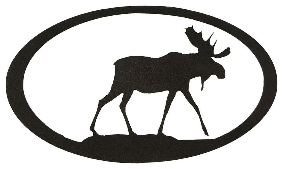 Moose Oval-Hammered Black - Pot Racks Plus