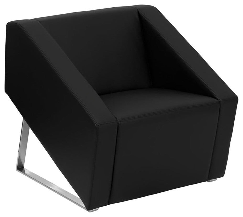 HERCULES Smart Series Black LeatherSoft Lounge Chair