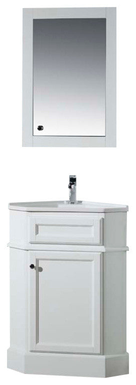 Kent 60 Inch White Double Sink Bathroom Vanity W/Drains & Faucets, Chrome - Pot Racks Plus