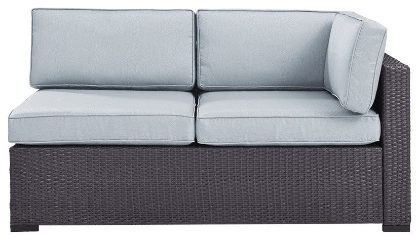 Biscayne Loveseat With Arm, Mist - Pot Racks Plus