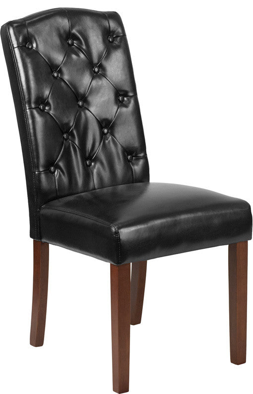 Flash Furniture HERCULES Grove Park Series Black LeatherSoft Tufted Parsons Chair - Pot Racks Plus