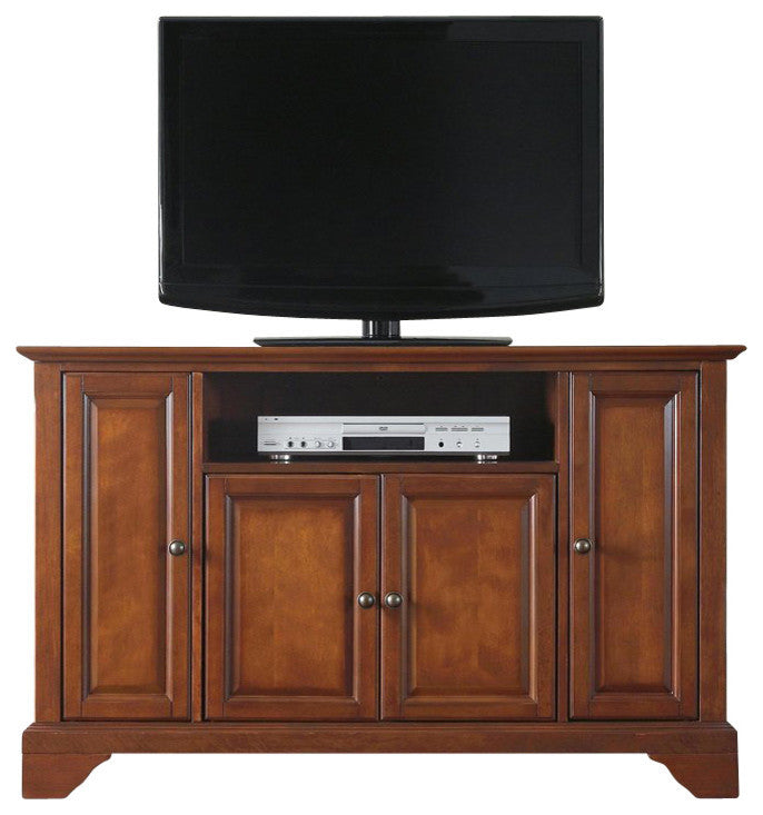 "LaFayette 48"" TV Stand, Classic Cherry Finish - Pot Racks Plus"