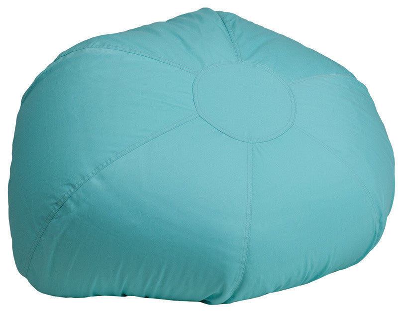 Flash Furniture   Oversized Solid Mint Green Bean Bag Chair for Kids and Adults - Pot Racks Plus