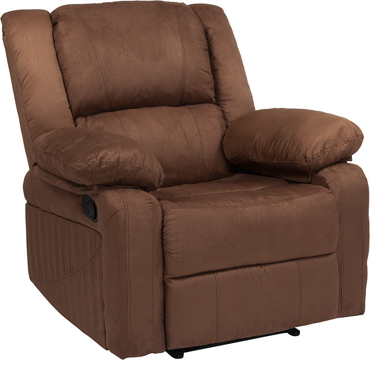 Flash Furniture   Harmony Series Chocolate Brown Microfiber Recliner - Pot Racks Plus