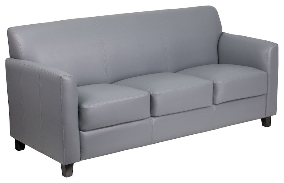 HERCULES Diplomat Series Gray LeatherSoft Sofa