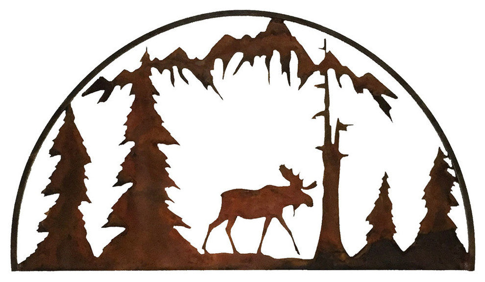 Moose Hoop, Rust Patina - Pot Racks Plus