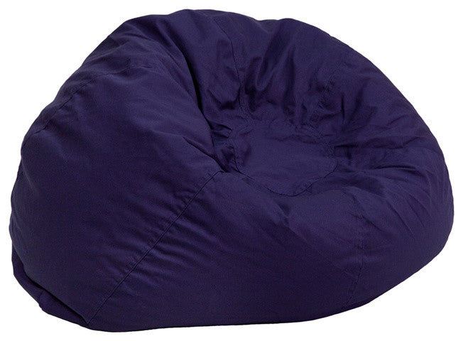 Flash Furniture   Small Solid Navy Blue Bean Bag Chair for Kids and Teens - Pot Racks Plus