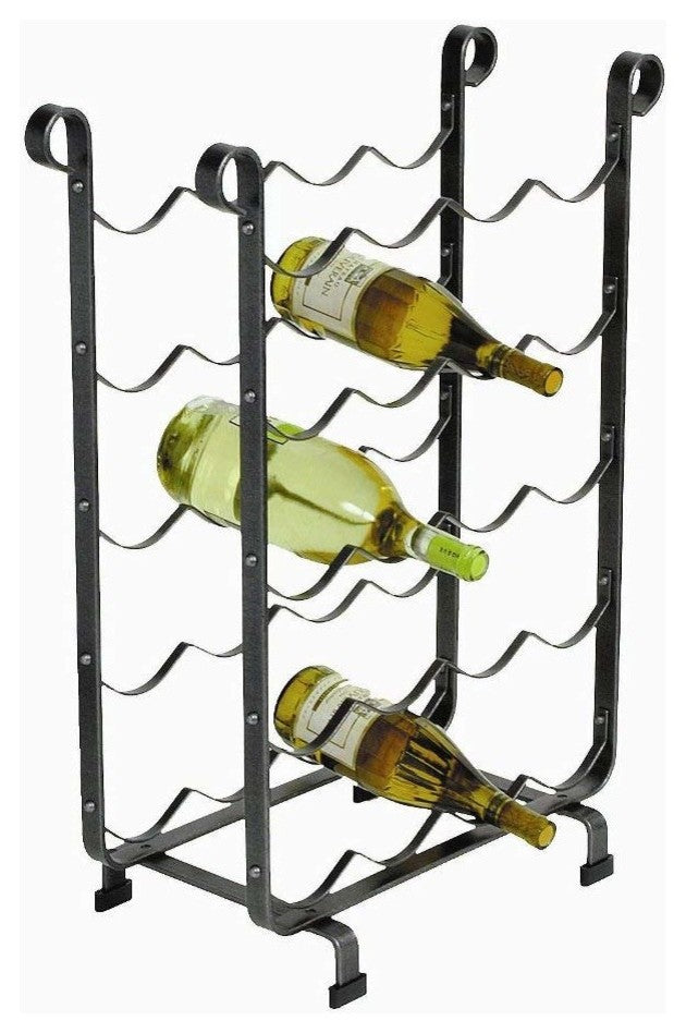 20 Bottle Wine Rack Hammered Steel - Pot Racks Plus