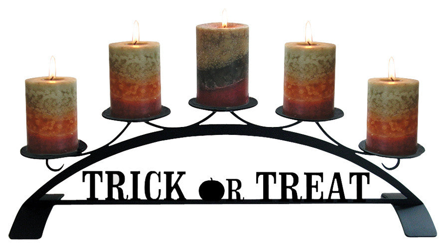Trick Or Treat, Table Top Pillar Candle Holder