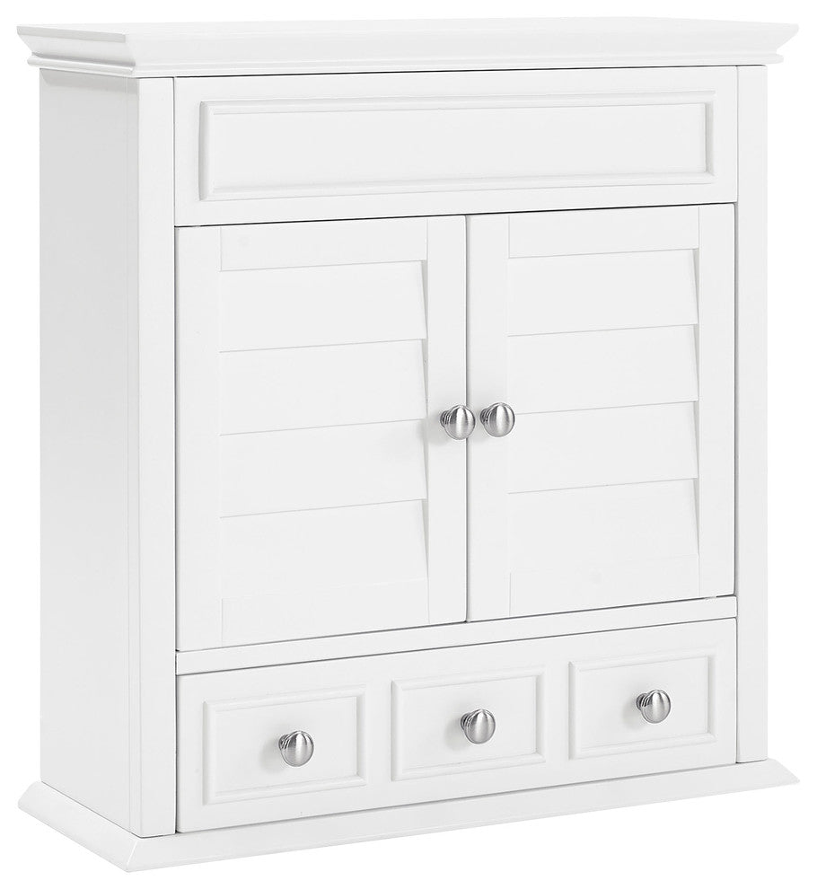 Lydia Wall Cabinet, White - Pot Racks Plus