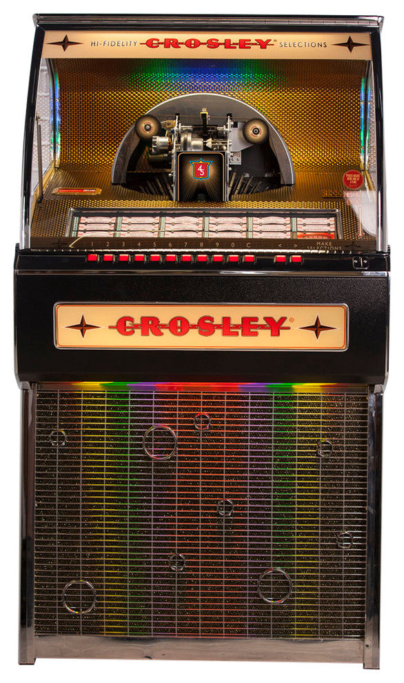 Vinyl Rocket Jukebox W/Bluetooth & Coin Box - Pot Racks Plus