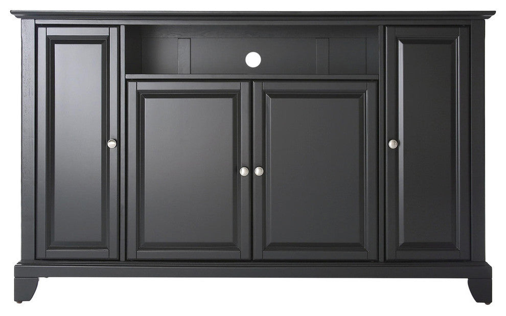 "LaFayette 60"" TV Stand, Black Finish - Pot Racks Plus"