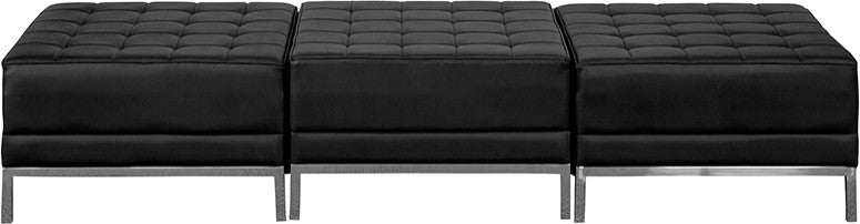 HERCULES Imagination Series Black LeatherSoft Three Seat Bench