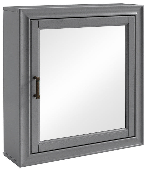 Tara Bath Mirror Cabinet, Grey - Pot Racks Plus