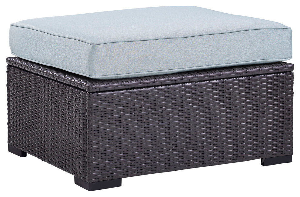 Biscayne Ottoman, Mist - Pot Racks Plus