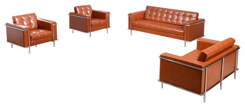 HERCULES Lesley Series Reception Set in Cognac LeatherSoft