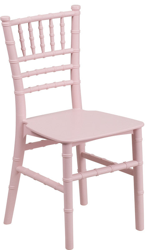 Flash Furniture   Kids Pink Resin Chiavari Chair - Pot Racks Plus