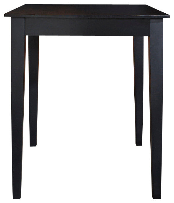 Tapered Leg Pub Table, Black - Pot Racks Plus