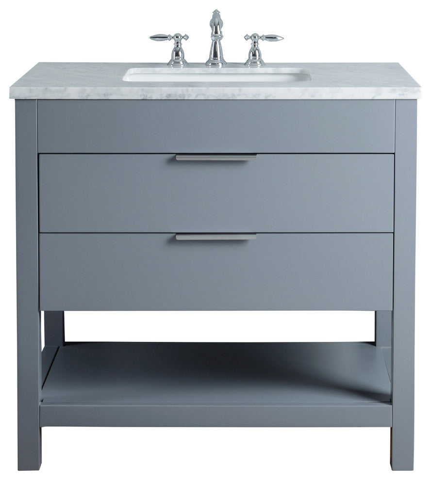 "Rochester 48"" Gray Single Sink Bathroom Vanity - Pot Racks Plus"