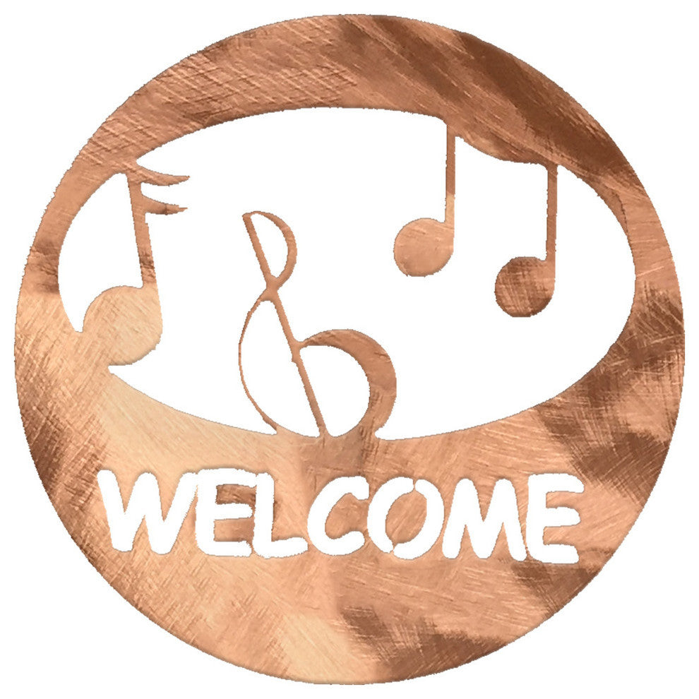 Music Welcome Circle-Polished Copper - Pot Racks Plus