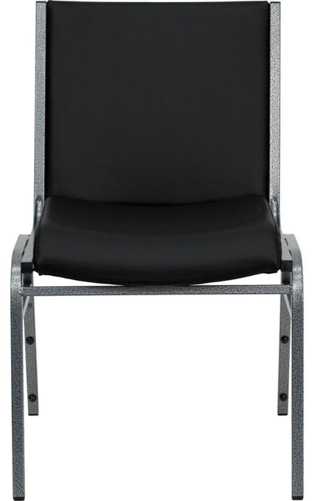 HERCULES Series Heavy Duty Black Vinyl Stack Chair