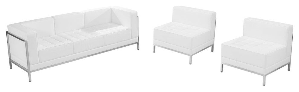 HERCULES Imagination Series Melrose White LeatherSoft Sofa & Chair Set