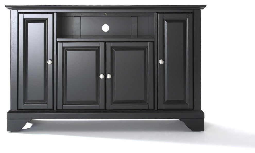 "LaFayette 48"" TV Stand, Black Finish - Pot Racks Plus"