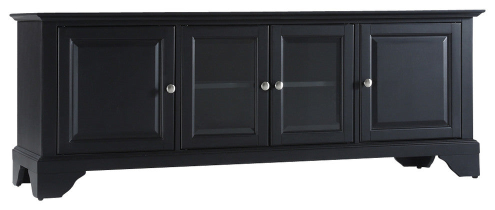 "LaFayette 60"" Low Profile TV Stand, Black Finish - Pot Racks Plus"