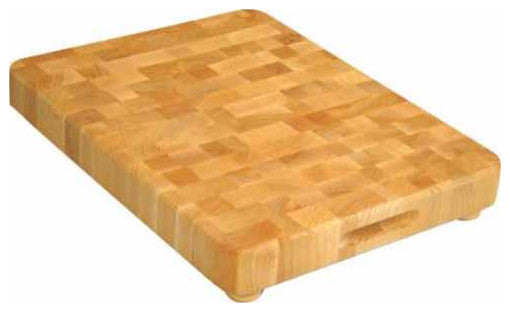 End Grain Chopping Block With Feet - Pot Racks Plus