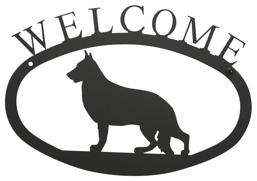 Welcome Sign, Small, German Shepherd