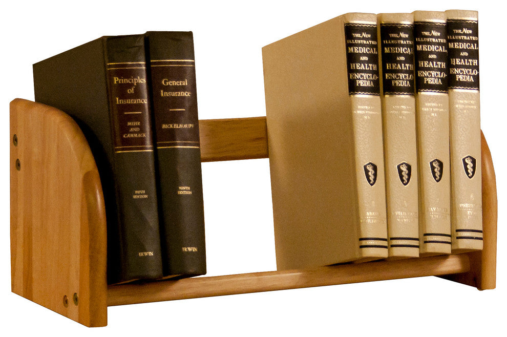 Tabletop Book Rack, Natural Finish - Pot Racks Plus