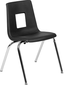 Advantage Black Student Stack School Chair - 18-inch