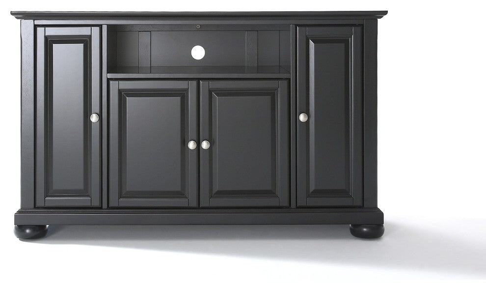 "Alexandria 48"" TV Stand, Black Finish - Pot Racks Plus"