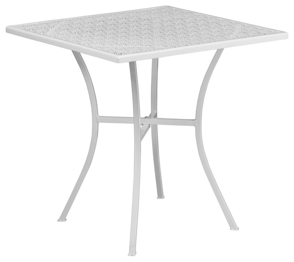 Commercial Grade Square Patio Table | Outdoor Steel Square Patio Table