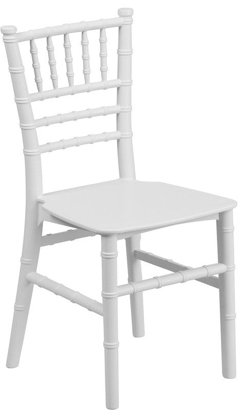 Flash Furniture   Kids White Resin Chiavari Chair - Pot Racks Plus