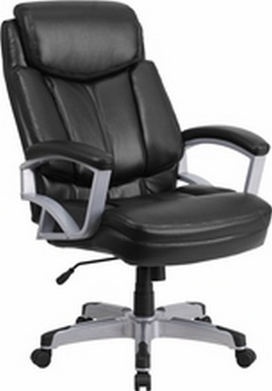 HERCULES Series Big & Tall 500 lb. Rated Black LeatherSoft Executive Swivel Ergonomic Office Chair with Arms