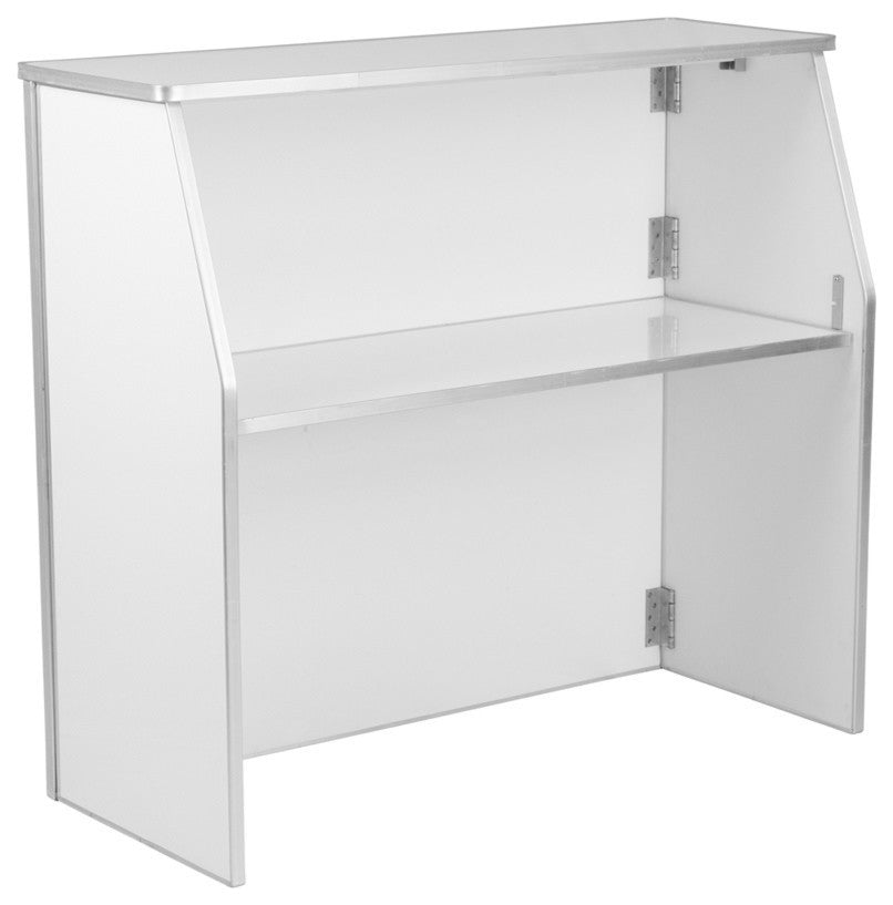 4' White Laminate Foldable Bar
