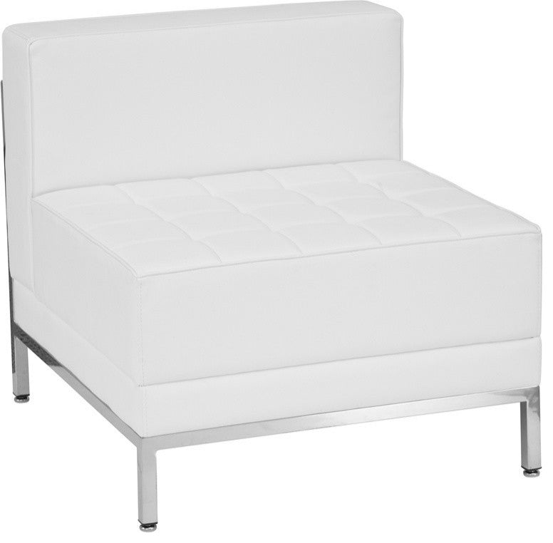 HERCULES Imagination Series Contemporary Melrose White LeatherSoft Middle Chair