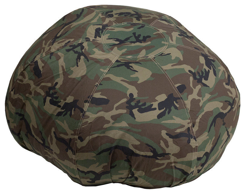 Flash Furniture   Oversized Camouflage Bean Bag Chair for Kids and Adults - Pot Racks Plus