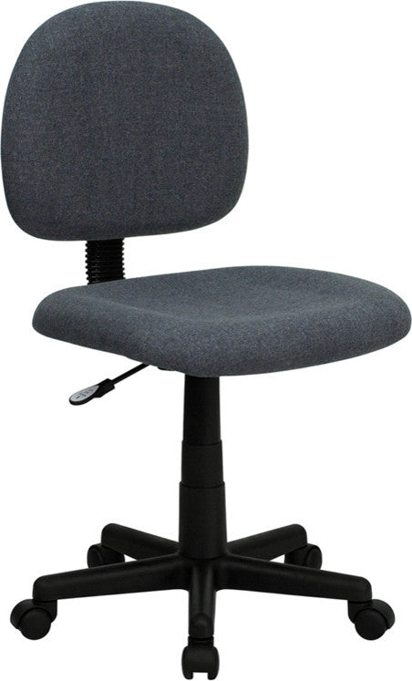 Mid-Back Gray Fabric Swivel Task Office Chair