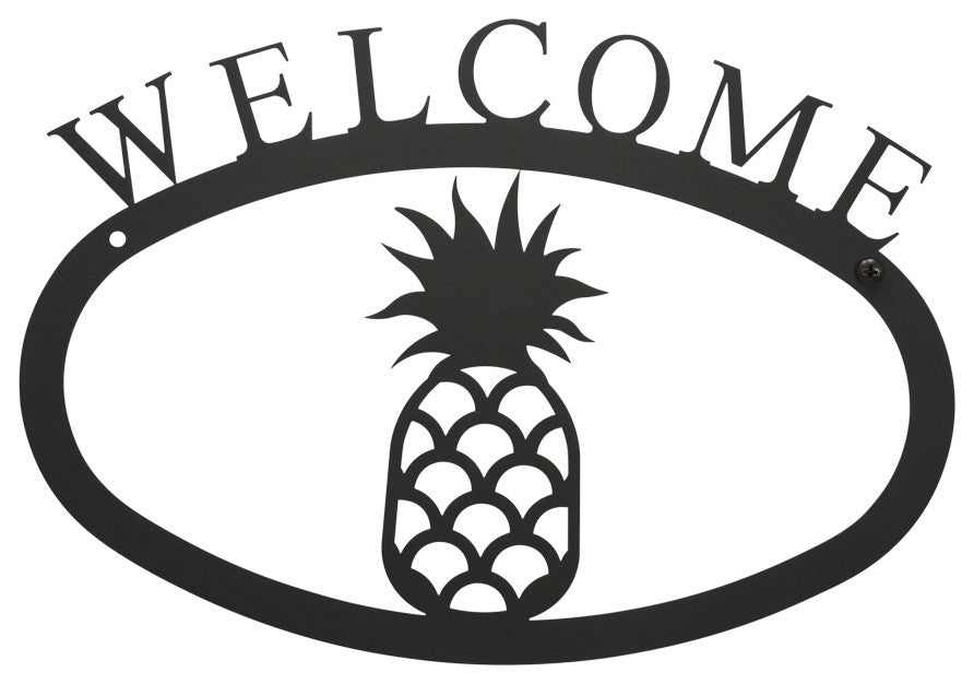 Welcome Sign, Small, Pineapple
