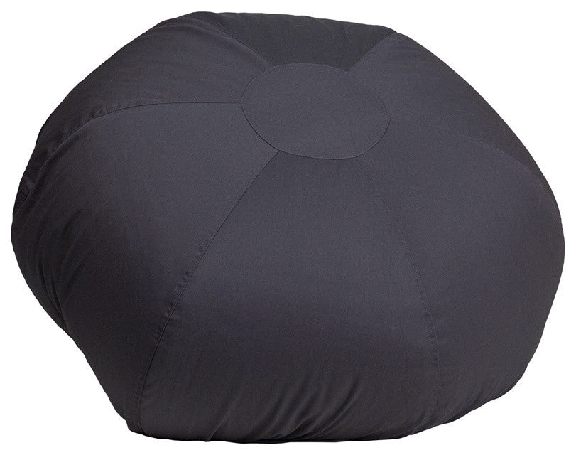 Flash Furniture   Oversized Solid Gray Bean Bag Chair for Kids and Adults - Pot Racks Plus