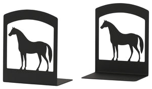 "Wrought Iron Book Ends, 5"" x6 1/4"" x3 1/2"", Horse"
