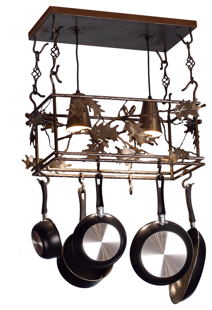 "24""L Oak Leaf & Acorn Pot Rack - Pot Racks Plus"
