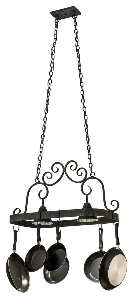 Elana 2 Light Pot Rack - Pot Racks Plus