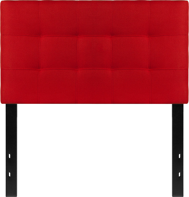 Bedford Tufted Upholstered Twin Size Headboard in Red Fabric