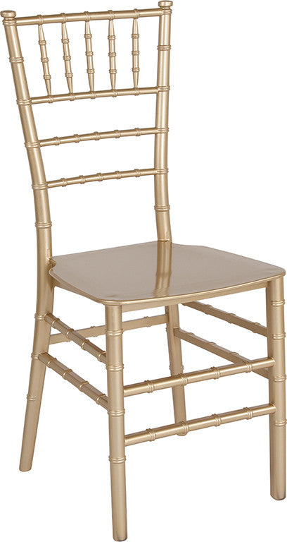 HERCULES Series Gold Resin Stacking Chiavari Chair